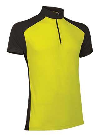 Camiseta Técnica maillot ciclismo amarillo negro