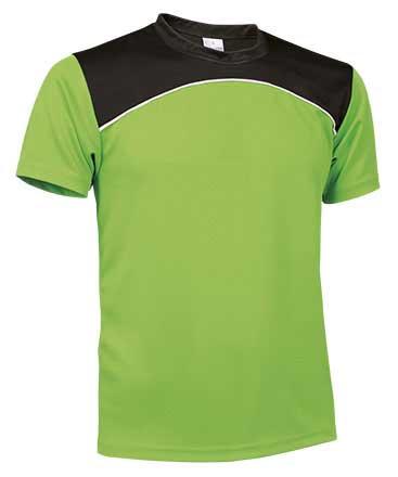 Camiseta Técnica tricolor verde manzana