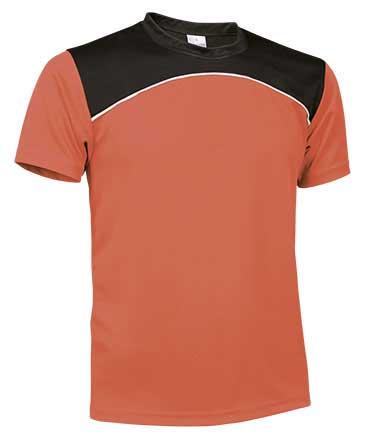 Camiseta Técnica tricolor naranja