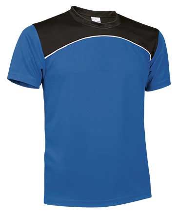 Camiseta Técnica tricolor azul royal
