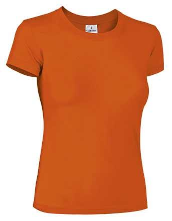 Camiseta mujer 100% algodón naranja
