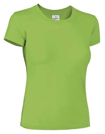 Camiseta mujer 100% algodón verde