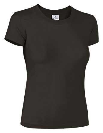 Camiseta mujer ajustada manga corta negra