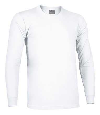 Camiseta de Algodón manga larga unisex blanco