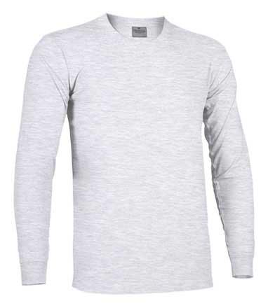 Camiseta de Algodón manga larga unisex gris