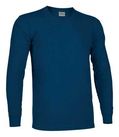 Camiseta de Algodón manga larga unisex azul marino