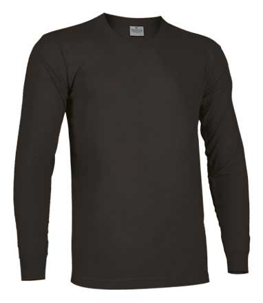 Camiseta de Algodón manga larga unisex negro