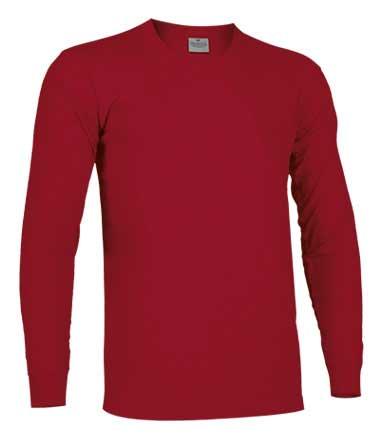 Camiseta de Algodón manga larga unisex rojo