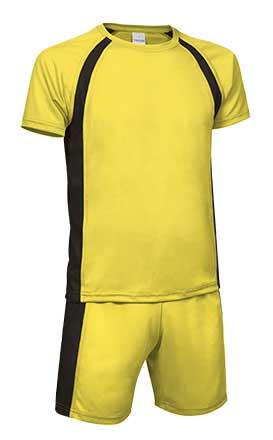 Conjunto deportivo camiseta y pantalón amarillo negro