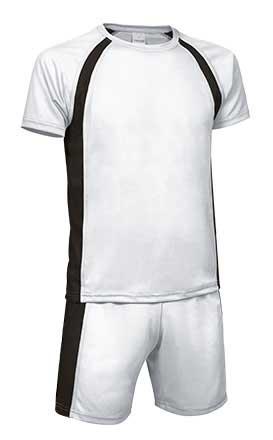 Conjunto deportivo camiseta y pantalón blanco negro