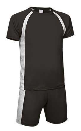 Conjunto deportivo camiseta y pantalón negro blanco