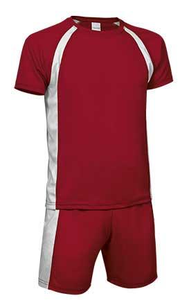 Conjunto deportivo camiseta y pantalón rojo blanco