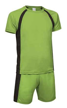 Conjunto deportivo camiseta y pantalón verde negro
