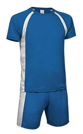 Conjunto deportivo camiseta y pantalón azul royal blanco