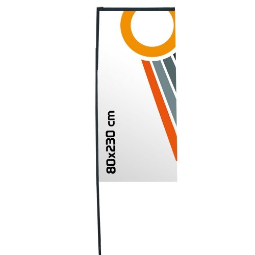 Bandera para evento, modelo Rectangular 80×230