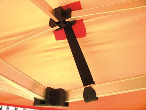 Carpa de  acero 3x3m detalles