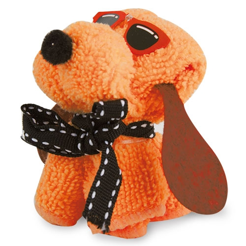 Toalla Mini decorada perrito naranja