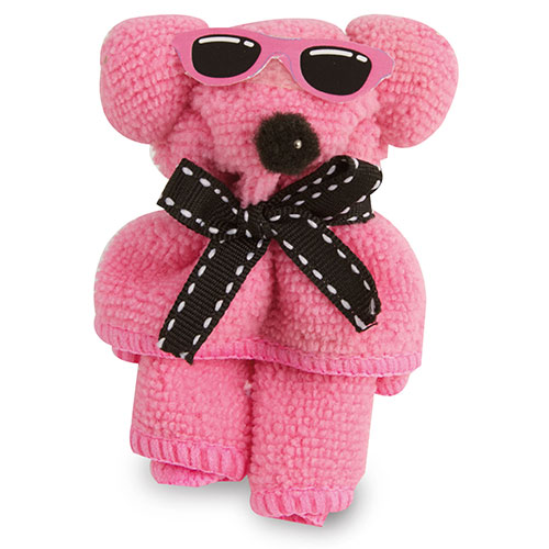 Toalla Mini decorada osito rosa