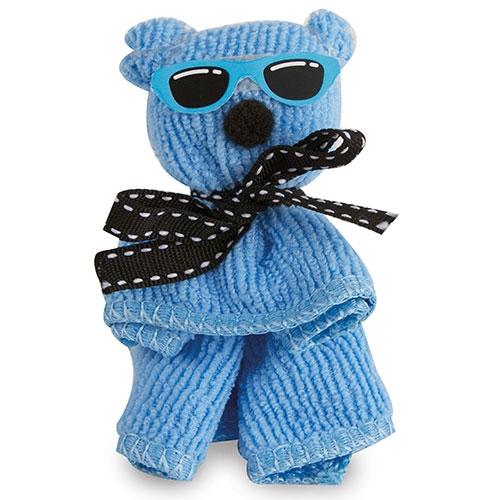 Toalla Mini decorada osito azul