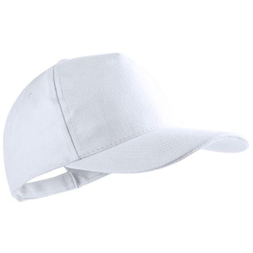Gorra algodón básica 5 paneles blanca