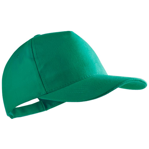 Gorra algodón peinado 5 paneles verde