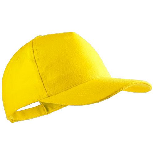 Gorra algodón básica 5 paneles amarilla