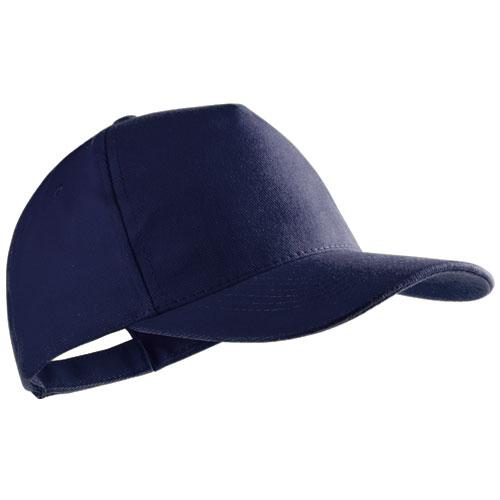 Gorra algodón peinado 5 paneles azul