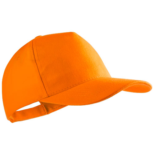 Gorra algodón peinado 5 paneles naranja