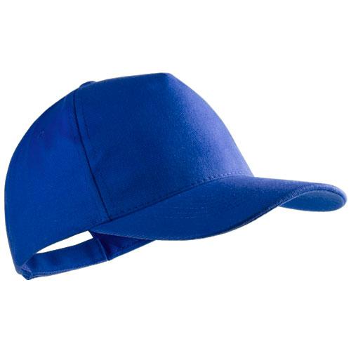 Gorra algodón básica 5 paneles azul