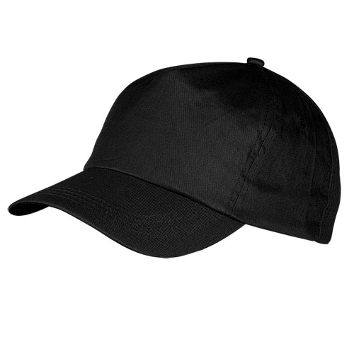 Gorra algodón negra