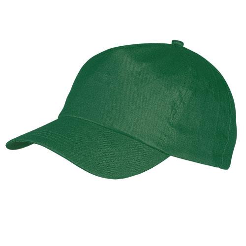 Gorra algodón básica 5 paneles verde