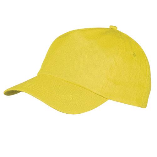 Gorra algodón básica 5 paneles amarillo