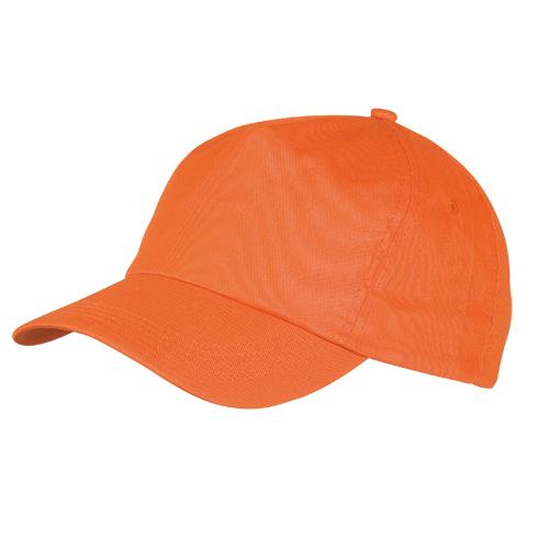 Gorra algodón naranja