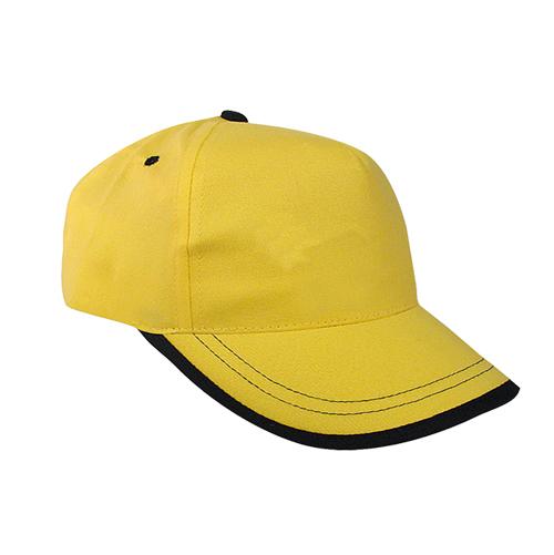 Gorra algodón linea en visera 5 paneles amarillo