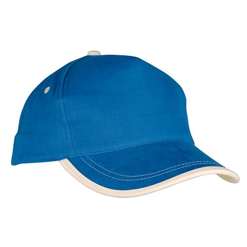 Gorra algodón linea en visera 5 paneles azul claro