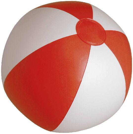 Pelota Playa PVC blanca roja