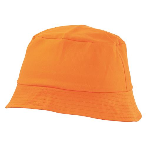 gorro algodón naranja