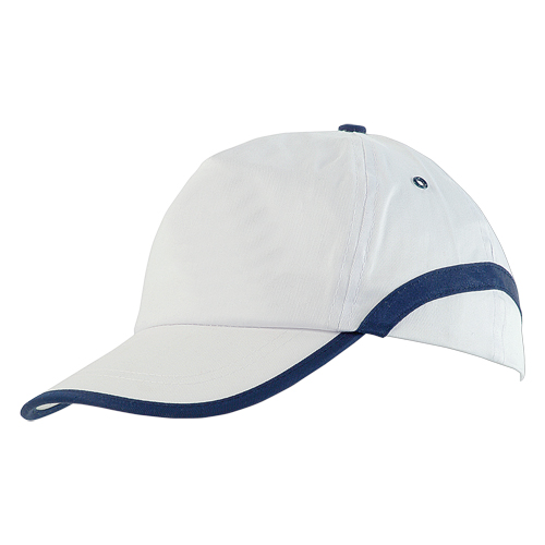 Gorra algodón linea en visera blanca