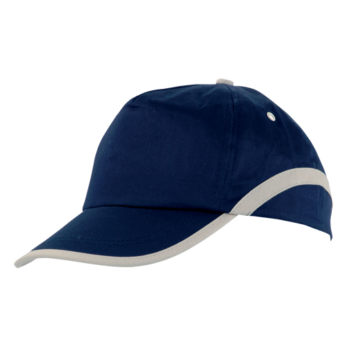 Gorra algodón lineal 5 paneles azul marino