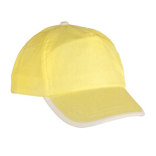 Gorra algodón linea en visera niño amarillo