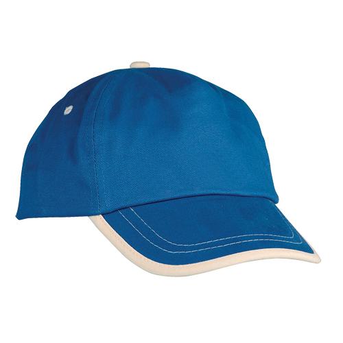 Gorra algodón linea en visera niño azul