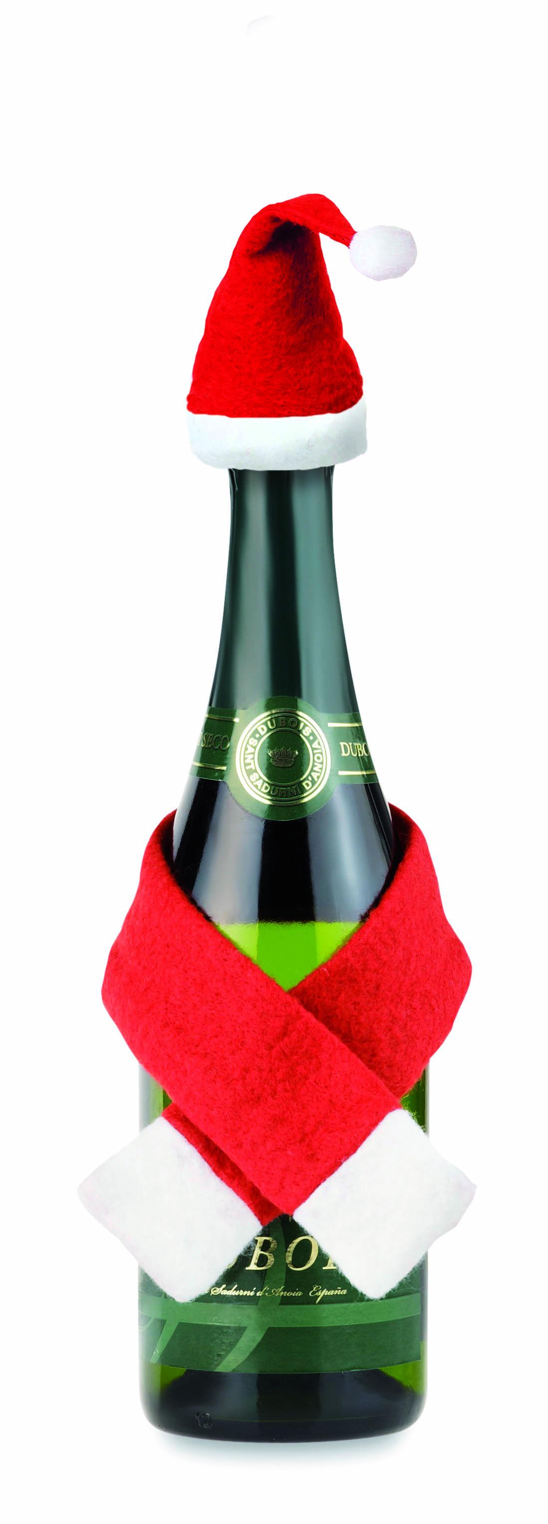 Decoración navideña para botella