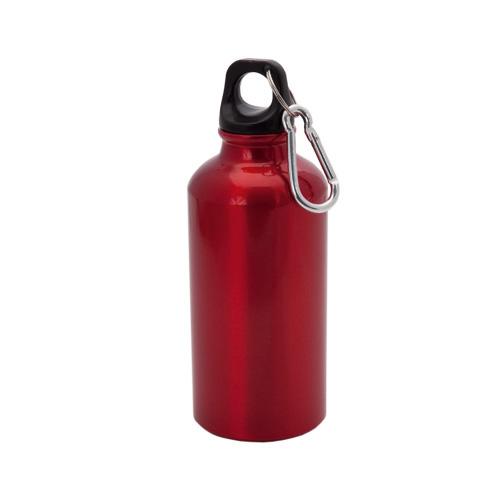 Bidón de aluminio 400ml Roja