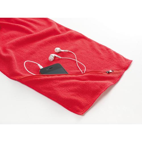 Toalla absorbente microfibra Roja