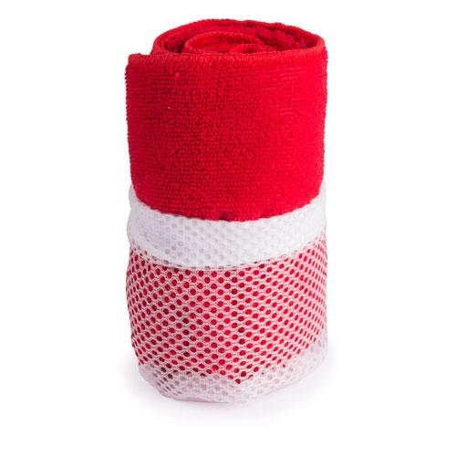 Toalla gimnasio absorbente Roja