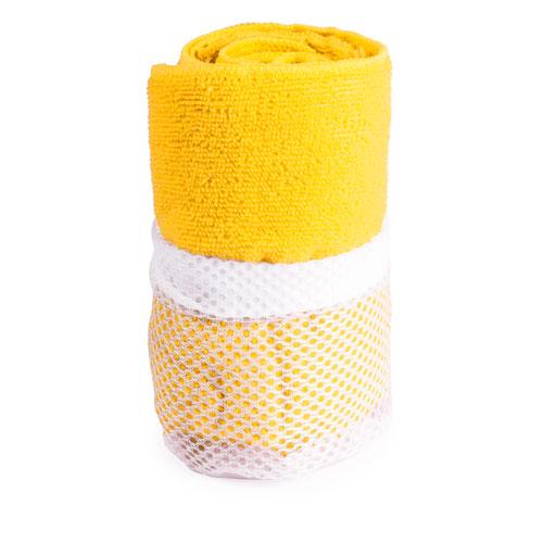 Toalla gimnasio absorbente Amarilla