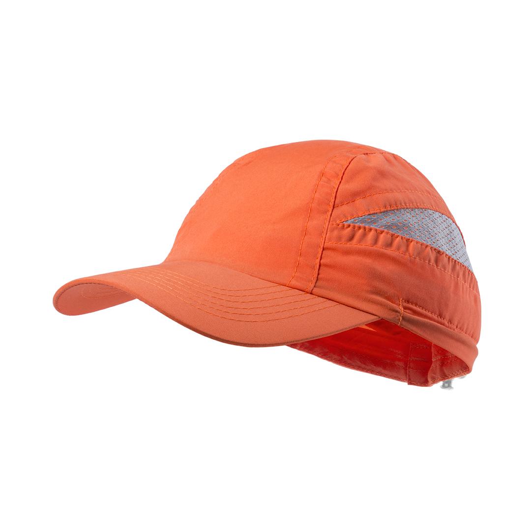gorra deportiva naranja